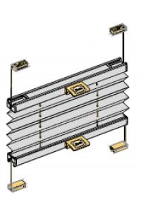 ESG2 verstellbares Plissee/ Breite bis 180 cm/ Erfal