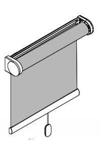 Sprigrolllo mit Trägerprofil zur Befestigung mit Clip