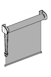 Design-Rollo mit sichtbaren Metallträgern Oberflächen Matt Chrom (ffuss)