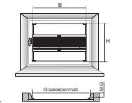 Twinline Messanleitung: Montage in der Glasleiste