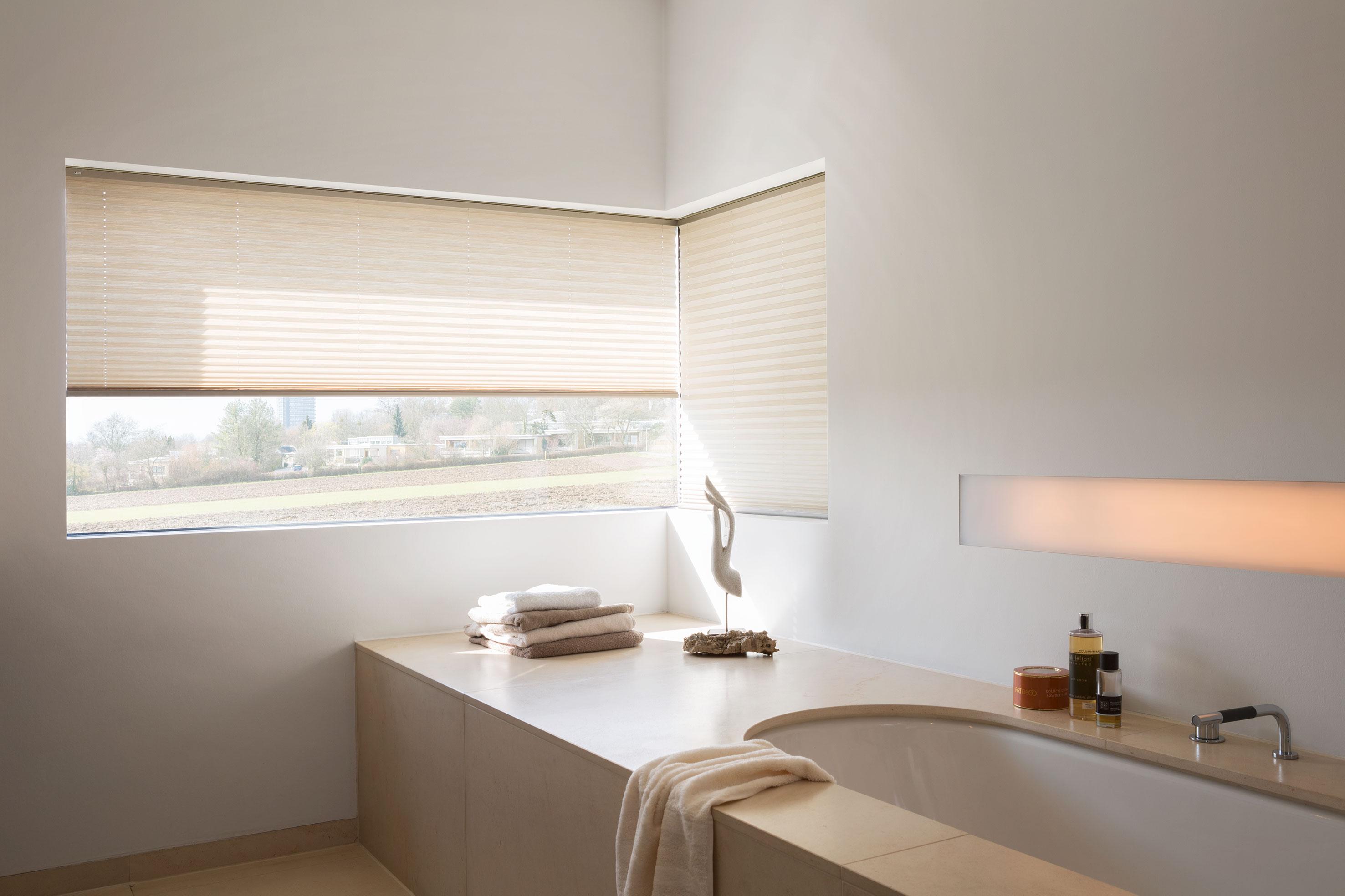 Plissees von MHZ für große Fenster bis 20 cm  verschiebbar ...